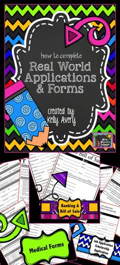 This no prep product will expose your students to a variety of applications and forms they will be faced with as they enter the
