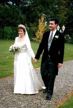 Crown Princess Margarita of Romania and Prince Radu - wedding 1996 Royal Wedding Gowns, Royal Weddings, Wedding Dresses, Romanian Royal Family, The Bride, Royal Society, Royal Brides, First Daughter, Royal House
