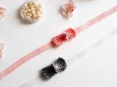 Nœuds papillon tricotés - bracelet nœud papillon - Miss Happy Rose
