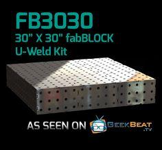FB3030 CertiFlat fabBlock U-Weld Kit Modular Welding Table
