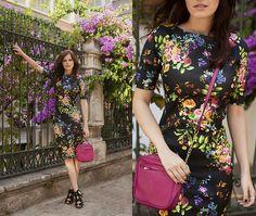 Floral Dress, Inci Bag, Zara Sandals