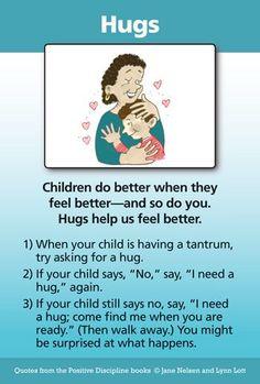 Hugs: A Positive Discipline Tool Card