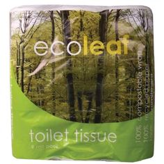 Eco leaf toilet tissue is made from recycled paper and the outer packaging is 100% compostable. I don't know how EthicalSuperStore packs it, so it might be delivered in plastic packaging, but it can also be found in stores. Warning: If you buy it in bulk (ie. 12 rolls or by the case) it comes wrapped in plastic.
