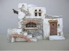 Risultati immagini per presepe fai da te Fontanini Nativity, Nativity Crafts, Christmas Nativity, Christmas Diy, Clay Houses, Miniature Houses, Wargaming Table, Christmas Villages, Fairy Houses