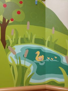 Liz richter mural art on pinterest saint francis for Duck pond mural