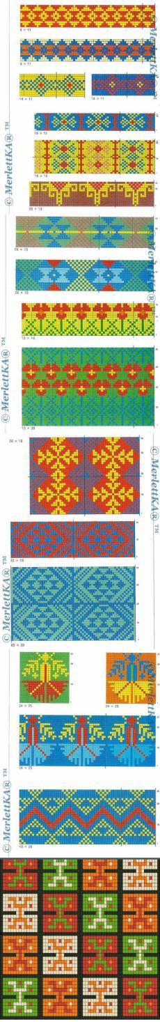 34 этнос - орнамента для жаккарда, вышивки, ткачества и бисера ★ и СУМКА Вайуу