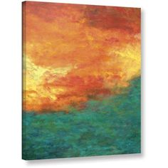 ArtWall Herb Dickinson Lake Reflections Gallery-wrapped Canvas, Size: 18 x 24, Blue