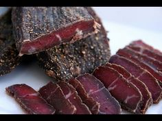 Making Traditional South African Biltong, beef jerky - YouTube