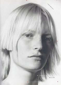 Kirsten Owen by David Sims for Heads: Hair by Guido (a beauty book published in 2002)