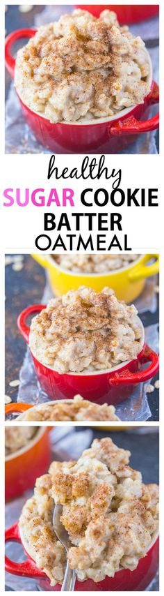 Smooth, creamy and secretly healthy, this sugar cookie batter oatmeal has incredible texture- It can also be completely sugar free too! {vegan, gluten free, high protein recipe}- thebigmansworld.com
