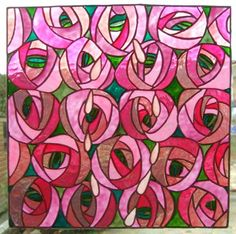 Mackintosh Style Rose and Tears Window Cling