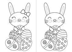 Easter bunny for coloring. Conejo de Pascua para colorear http://dibujos-para-colorear.euroresidentes.com/2014/03/dibujo-del-conejito-de-pascua-para.html