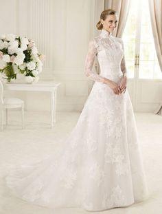 high neck wedding dress - 8 Beautiful Nora Noh Dresses to Wear to Weddings