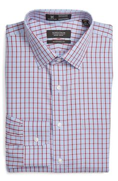 Nordstrom Men's Shop Smartcare™ Traditional Fit Check Dress Shirt available at #Nordstrom