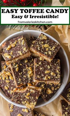 Easy Toffee Candy Candy Recipes, Dessert Recipes, Toffee Candy, Candy Thermometer, Holiday Treats, Just Desserts, Sweet Tooth, Sweet Treats, Cooking Recipes