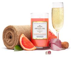 A true-to-life blend of ripe, tangy grapefruit and crisp champagne- an exotic fruity and citrusy scent with a hint of peach. Smells sweet and delicious! Enjoy t