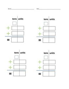 This is a wonderful worksheet for beginning learners or differentiated learning. Easy visual allows students to keep numbers in correct column. Includes square for carry-over number.I use this with my students with autism and they find it extremely helpful.