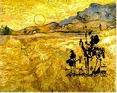 Vincent Van Gogh - Don Quijote. http://spainatm.com/story-don-quijote-de-la-mancha/