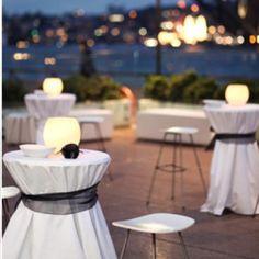 Bar table linens