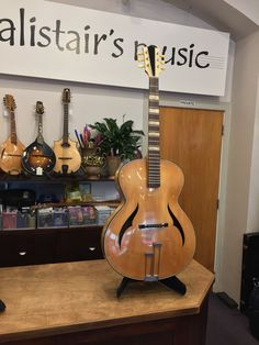 This guitar was lovingly restored by Wellington luthier Paddy Burgin many years ago. Very pretty, bird's eye maple back and sides with an even grained spruce belly. Machine heads have been replaced with Gibson heads of the same period. Fitted with Martin retro 12s, the sound is very crisp, especially on the trebles. Just lovely!