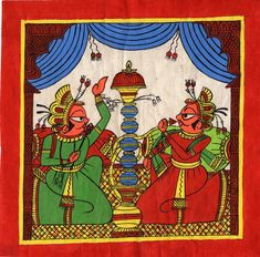 Mughal Paintings, Persian Miniatures, Rajasthani art and other fine Indian paintings for sale at the best value and selection. Mughal Paintings, Indian Paintings, Paintings For Sale, Phad Painting, Indian Traditional Paintings, Rajasthani Art, Indian Art, Ethnic, Folk