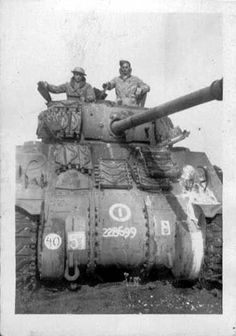 Sherman Tank - 1st Polish Armoured Regisment, C-squadron of the 1st Polish Armored Division - Would like more information about landing-craft number.