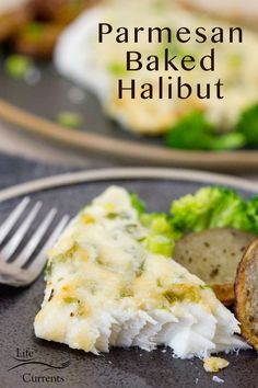 Rich, cheesy topping over perfectly baked mild flavored halibut; this recipe makes the best halibut meal ever. This Parmesan Baked Halibut is a five star dinner recipe that's surprisingly easy to make. Your dinner guests (even if that's just your family) will think you're a kitchen genius. Halibut Recipes, Seafood Recipes, Easy Dinner Recipes, Easy Meals, Fall Recipes, Healthy Crockpot Recipes, Healthy Snacks, Winter Food, Fish And Seafood