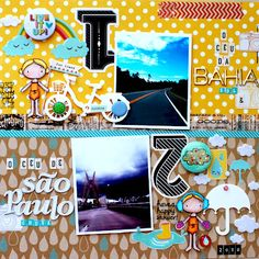 stunning scrapbook page by Anne Sereguetti