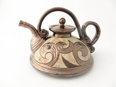 ceramic teapot pottery tea pots teapot ceramic art by Avanturine, $39.00