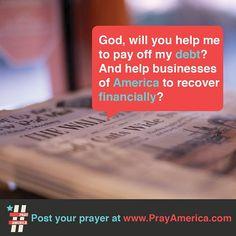 God help us with our debt!  #debt #freedom #money #pray #bible #prayer #inspiration #quote #jesus #typography #design #america  www.facebook.com/weprayamerica  www.youtube.com/newlifeamerica  www.instagram.com/prayamerica