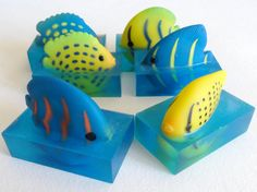 This listing is for 6 super cool, Aquarium Fish Soap Party Favors, as seen in the above photos. These party favors are great for birthday parties! Perfect for stocking stuffers! Or, if you would like,