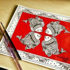 Madhubani artwork by Pratibha Madan @Preetkriti
