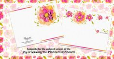 Download a FREE Planner Dashboard. Subscribe to get the Joy is Seeking You Bonus Content