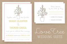 LoveTree Wedding Invitation Suite by Morgana Lamson on @creativemarket