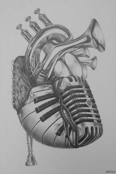 сердце эскизы татуировок - Поиск в Google