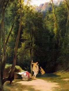 """Woman Bathing In The Park Of Terni"" - Carl Blechen"