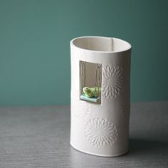 Swinging Bird Vase by potteryandtile on Etsy, $68.00