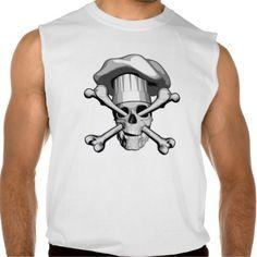 Chef Skull and Crossbones Sleeveless Shirts Tank Tops