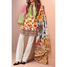 Multicolor Printed Cambric Dress Contact: (702) 751-3523  Email: info@pakrobe.com  Skype: PakRobe
