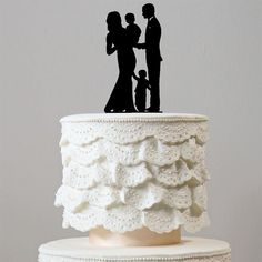 Family Wedding Cake Toppers Groom Pregnant Bride 1 Baby Son Boy