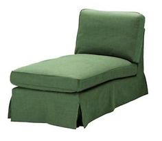 Ikea Ektorp Free-standing Chaise Lounge (slipcover Only) Svanby Green 701.931.04