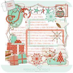 Vintage Christmas mini kit freebie from Persnickety Prints #digiscrap #scrapbooking #digifree #scrap #freebie #scrapbook