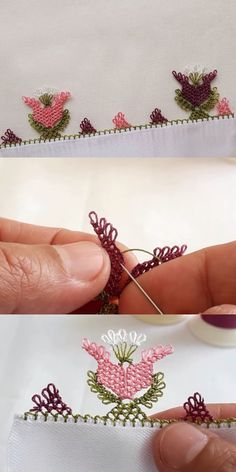 Needle Lace Tulip Model For A Simple Stylish Writing - My Recommendations Needle Lace, Needle And Thread, Lace Patterns, Baby Knitting Patterns, Simple Eyeshadow Tutorial, Lace Heart, Lace Making, Easy Crochet, Hand Embroidery