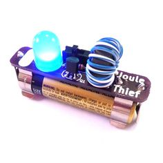 Picture of Easy Joule Thief Soldering Project Electronics Projects, Electronics Components, Joule Thief, Printed Circuit Board, Electronic Gifts, Electronic Circuit, Electrical Tape, Magnetic Field, Can Lights