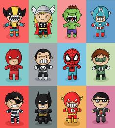 Over in my shop , I've just added a range of cute superhero prints! Included are: Wolverine, Thor, Hulk, Captain America, Daredevil, The Pu...