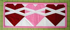 hearts mug rug