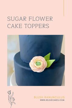 Diy Wedding Cake, Wedding Cakes With Flowers, Wedding Cake Toppers, Cake Decorating Techniques, Cake Decorating Tips, Flower Cake Toppers, Cake Youtube, Sugar Flowers, Baby Shower Cakes