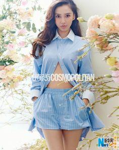 Hong Kong actress Angelababy covers 'Cosmopolitan' magazine   China Entertainment News