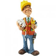 Funny jobs, beeldje ingenieur, figurine engineer, figur ingenieur