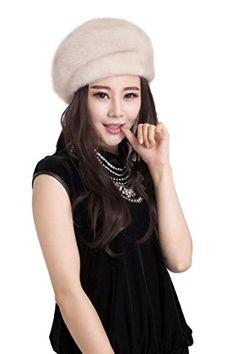 38a525e319643 Ferrand Women s Real Genuine Mink Fur Warm Hat Fashion Beret-FMS37-royal  blue at Amazon Women s Clothing store